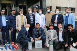 ادای احترام سازمان بسیج هنرمندان تهران بزرگ به کادر درمانی بیمارستان بقیه الله الاعظم (عج)
